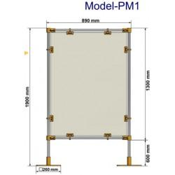 Przegrody ochronne stanowiskowe PM1