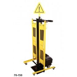 Bariera nożycowa podwójna na wózku 2x 2m